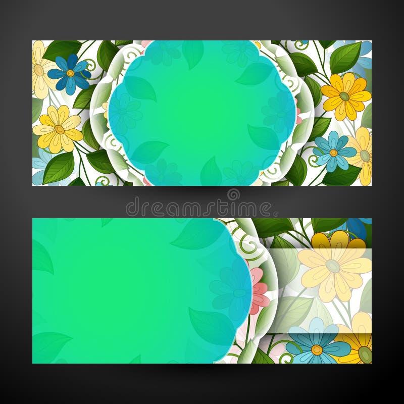 Ensemble de bannières horizontales, élément de web design illustration libre de droits