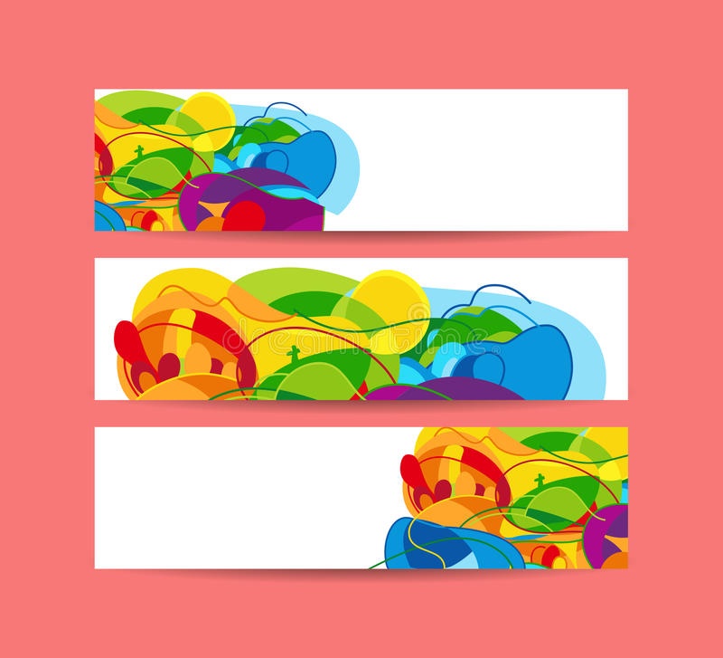 Ensemble de bannières horizontales Illustration de vecteur illustration de vecteur