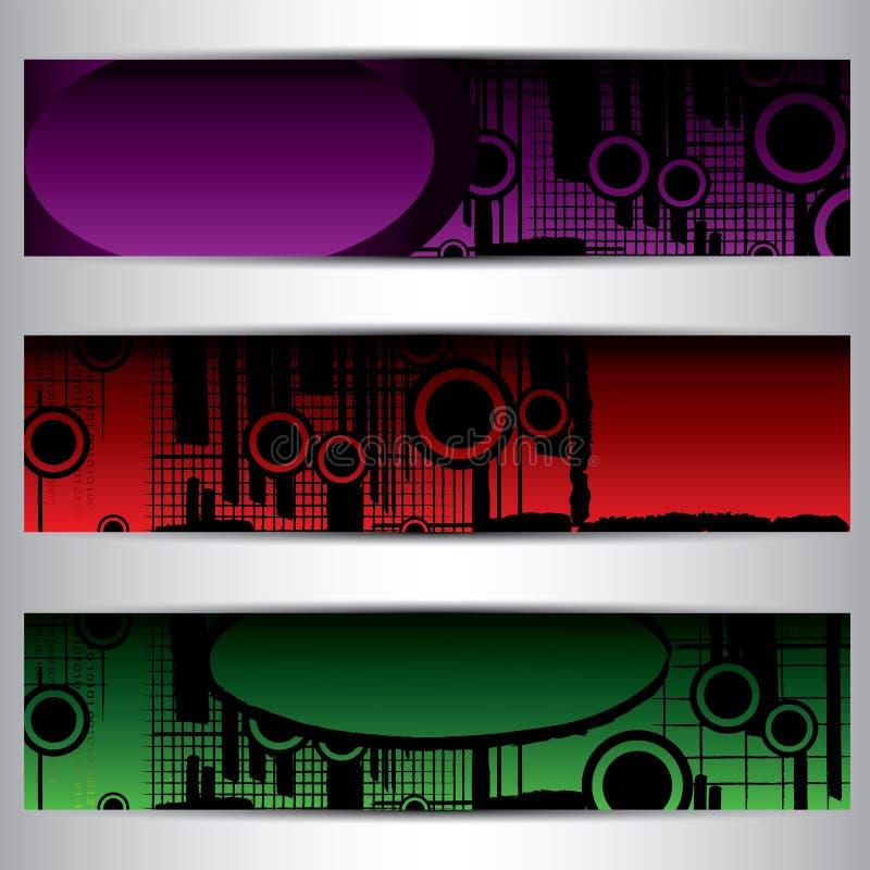 Ensemble de bannières lumineuses illustration de vecteur