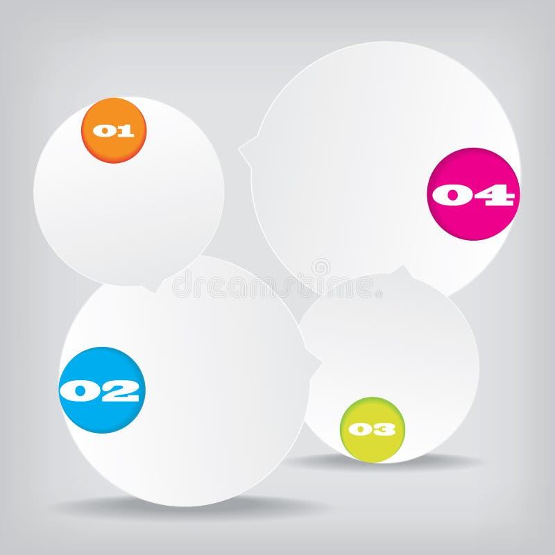 Ensemble de bannières propres de nombre de conception moderne utilisées pour la disposition de site Web Infographic image libre de droits