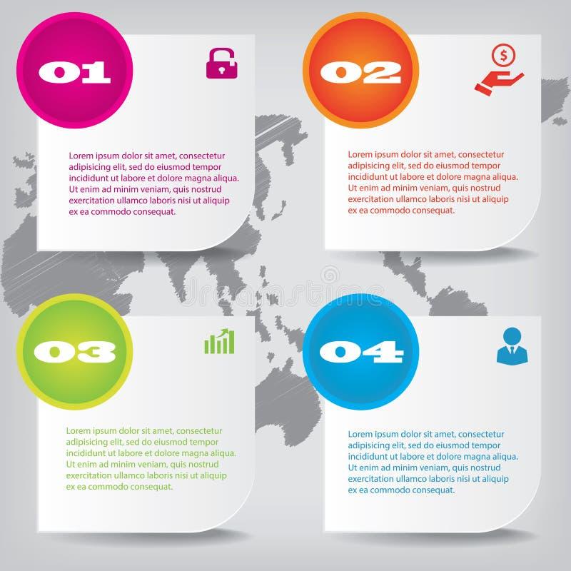 Ensemble de bannières propres de nombre de conception moderne utilisées pour la disposition de site Web Infographic image stock