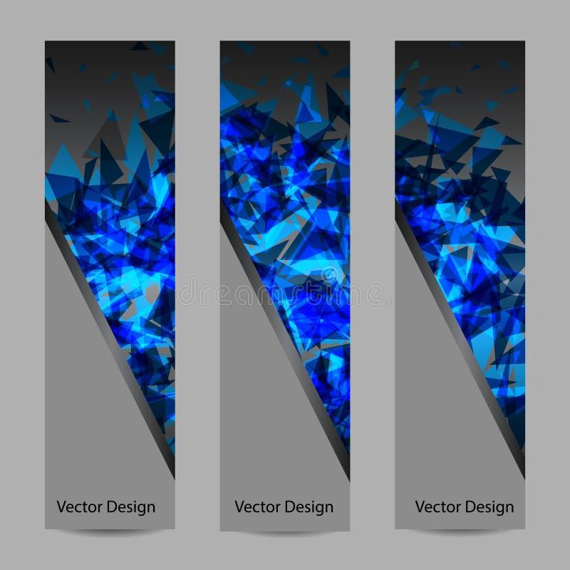 Ensemble de bannières verticales de vecteur illustration libre de droits
