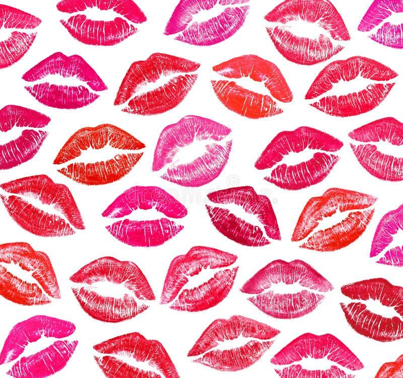 Ensemble de belles lèvres rouges photo libre de droits