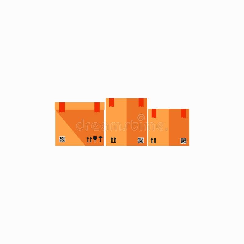 Ensemble de boîtes vides plates Descripteur pour votre conception Fond blanc Illustration de vecteur ENV 10 illustration stock