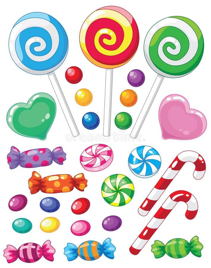 Ensemble de bonbons illustration de vecteur