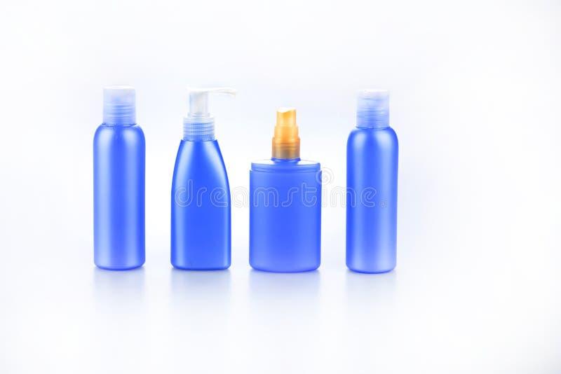 Ensemble de bouteilles pour le cosmétique photographie stock libre de droits