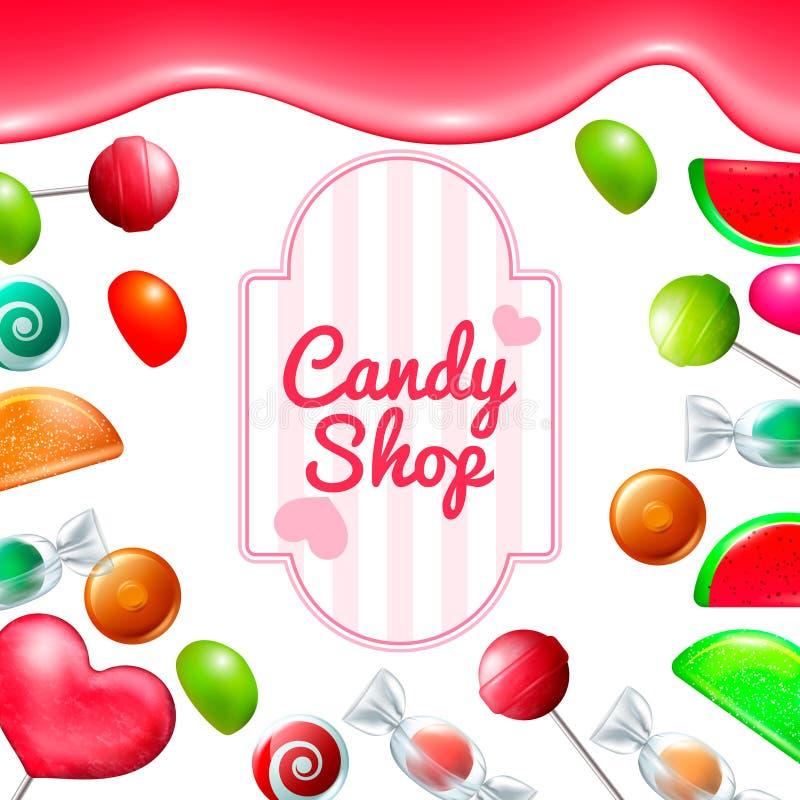 Ensemble de boutique de sucrerie illustration libre de droits