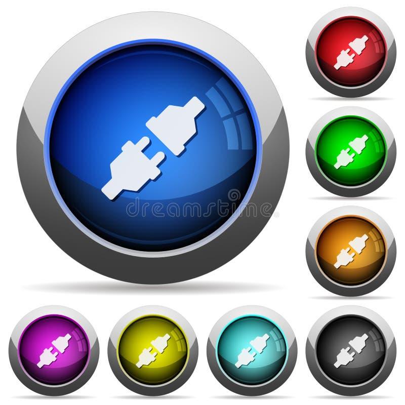 Ensemble de bouton de connecteurs d'alimentation illustration libre de droits
