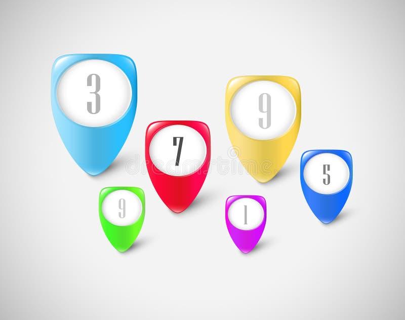 Marqueurs de bouton réglés image libre de droits