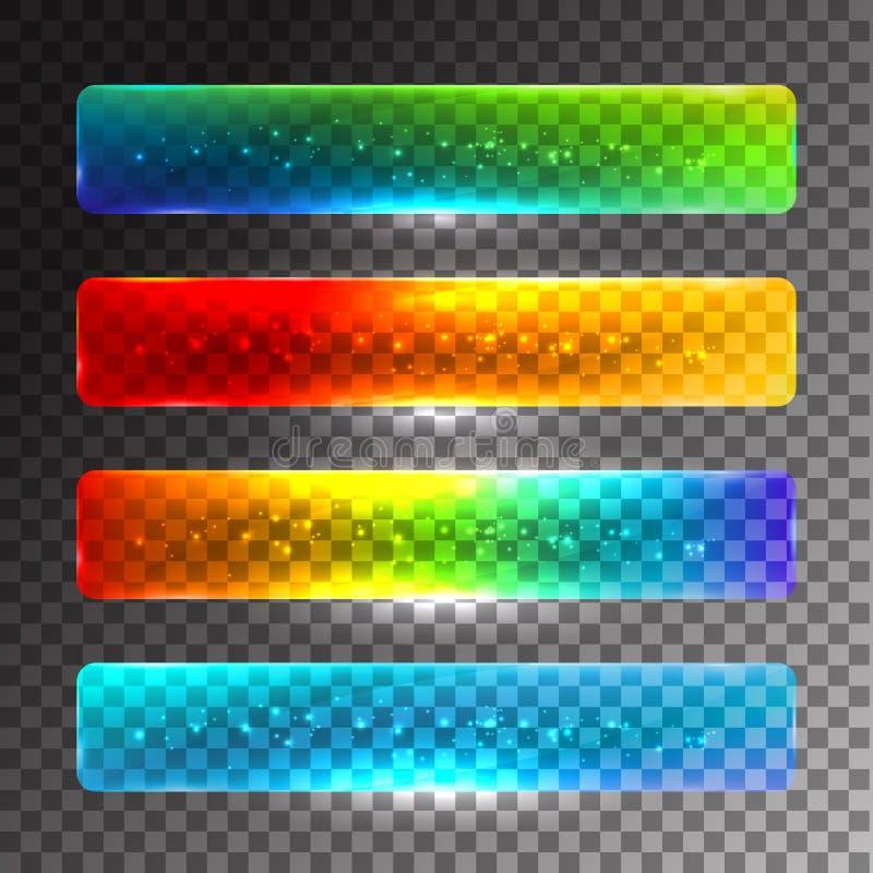 Ensemble de boutons colorés de Web illustration libre de droits