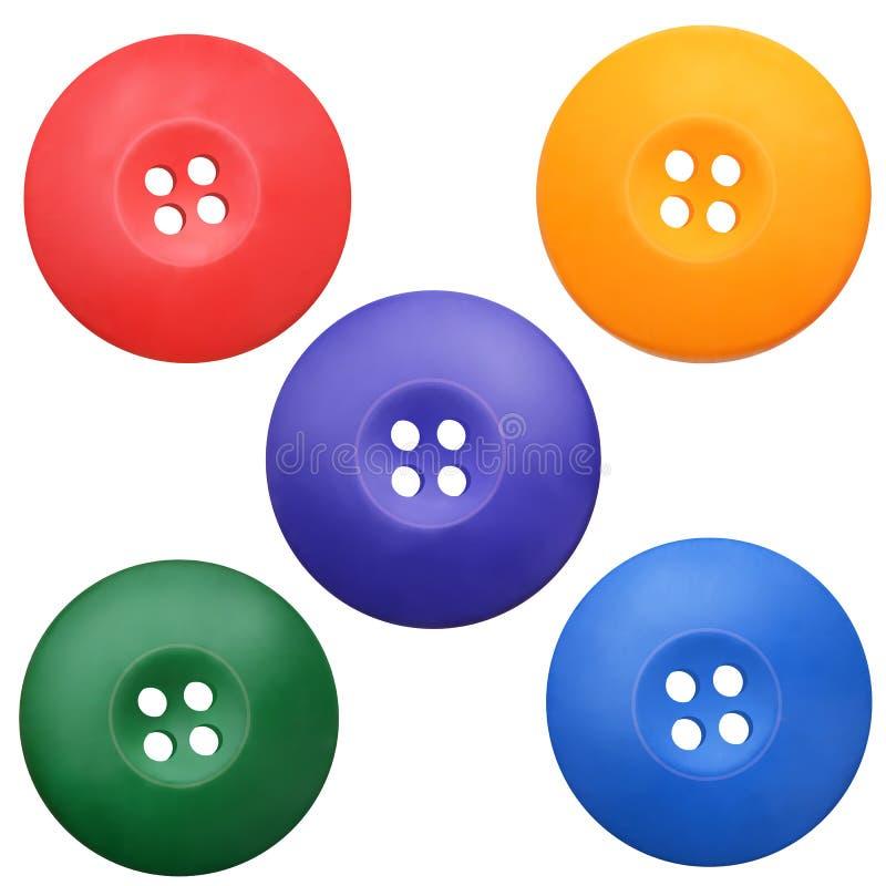 Ensemble de boutons colorés par habillement réaliste illustration libre de droits