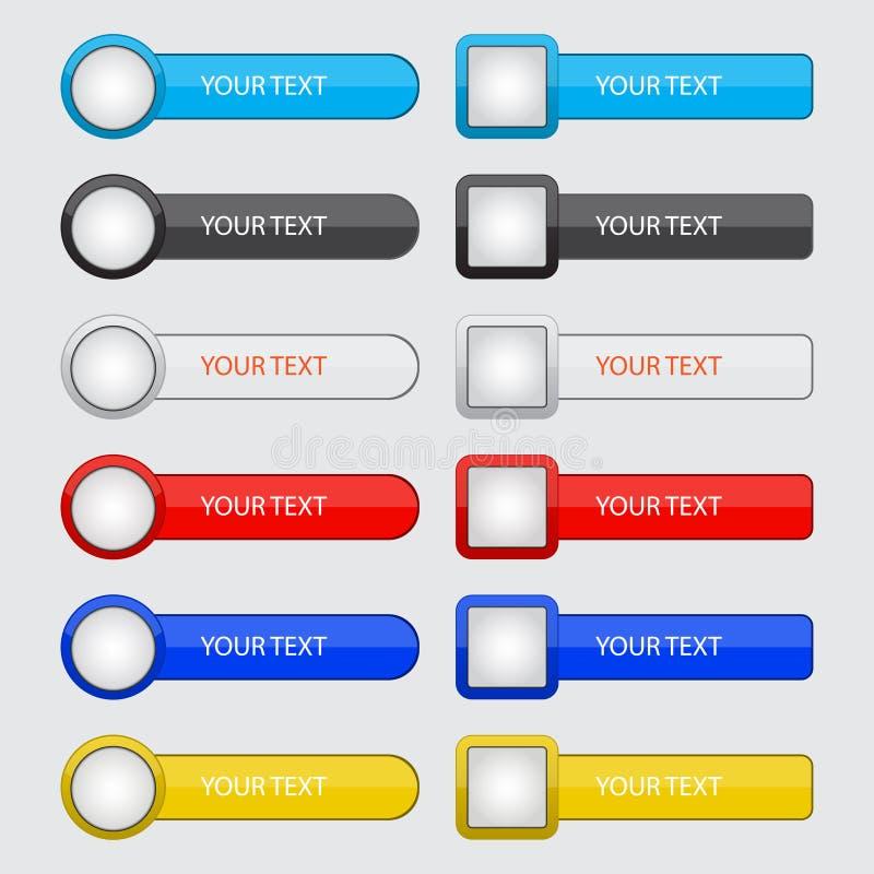 Ensemble de boutons pour le site Web et l'application illustration libre de droits