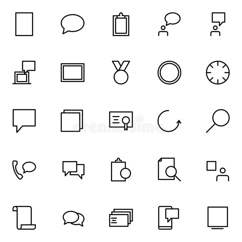 Ensemble de branche d'activité icônes illustration stock