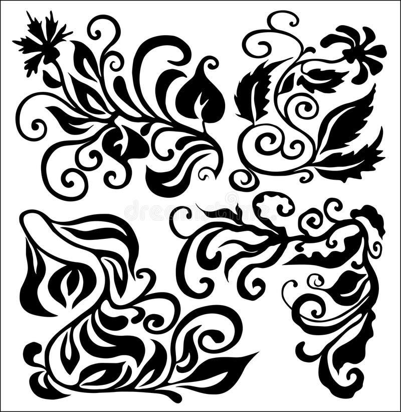 Ensemble de branchements illustration stock