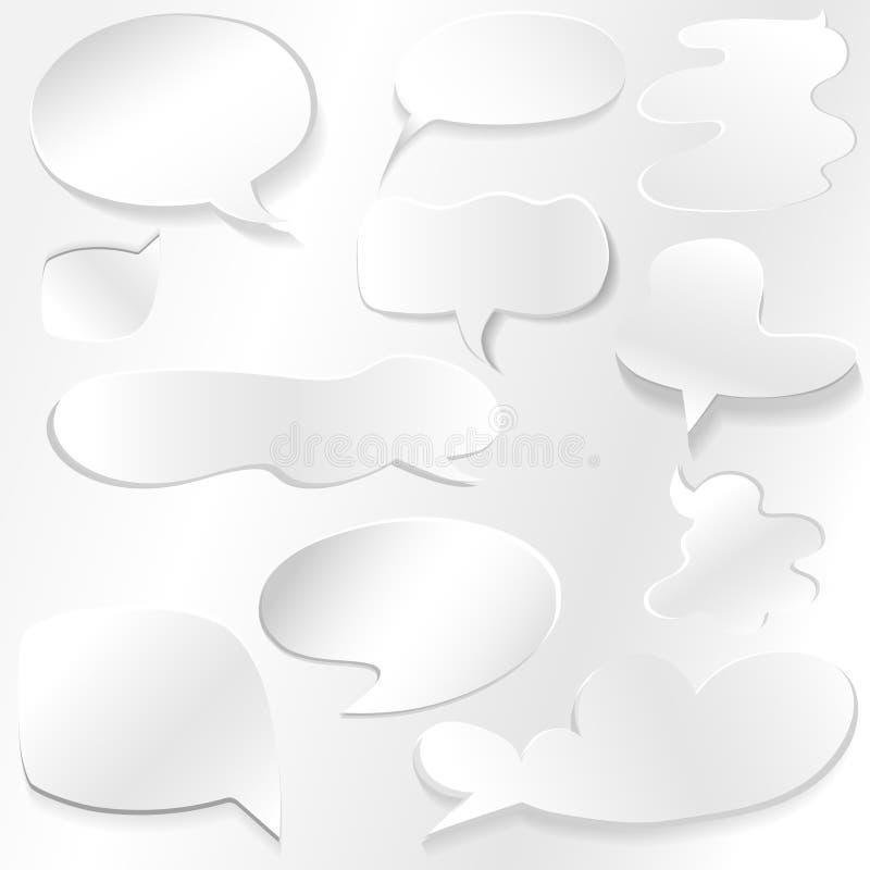 Ensemble de bulle de la parole grand, d'isolement sur le fond transparent, illustration de vecteur illustration libre de droits