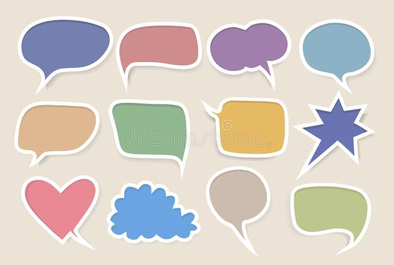 Ensemble de bulles colorées de la parole illustration libre de droits