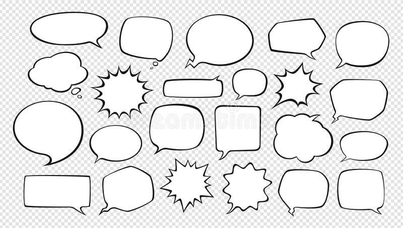 Ensemble de bulles comiques de la parole Illustration de vecteur de dessin animé illustration de vecteur