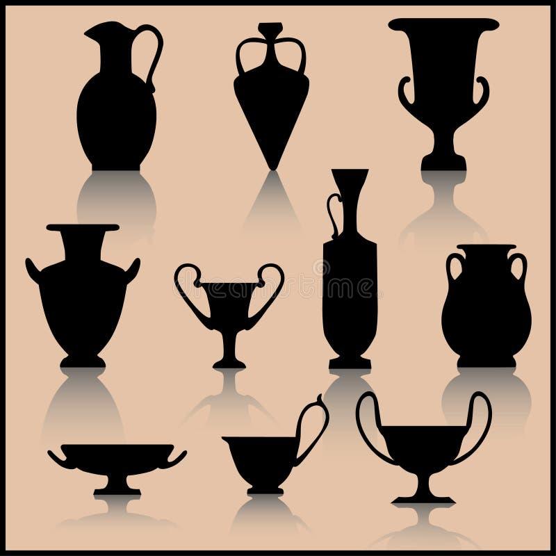 Ensemble de céramique antique illustration libre de droits