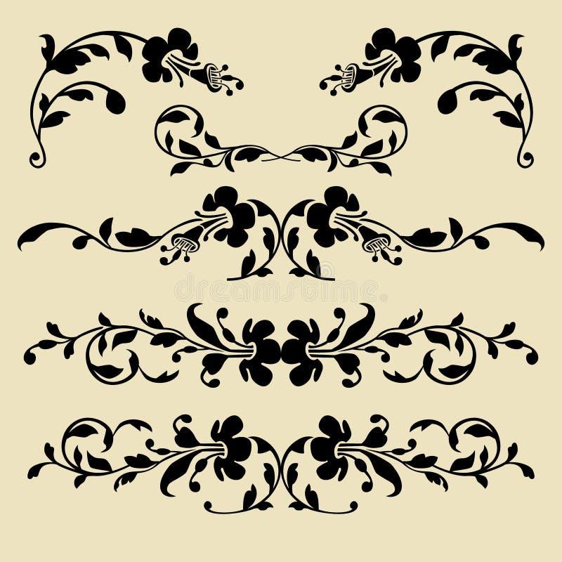 ensemble de cadres baroques de vecteur pour la conception. Black Bedroom Furniture Sets. Home Design Ideas