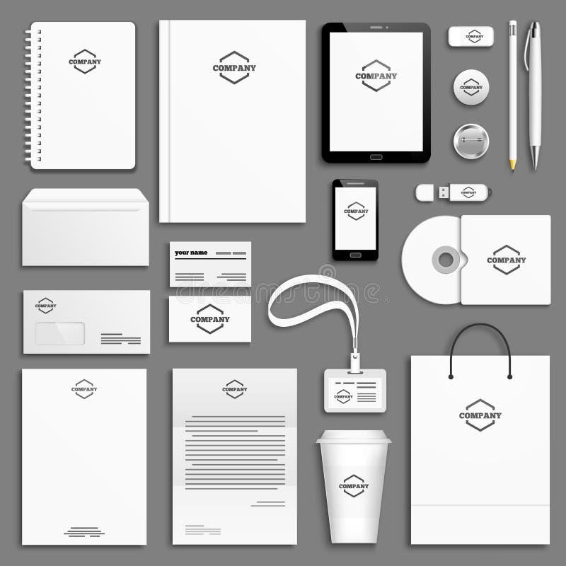 Ensemble de calibre d'identité d'entreprise illustration libre de droits