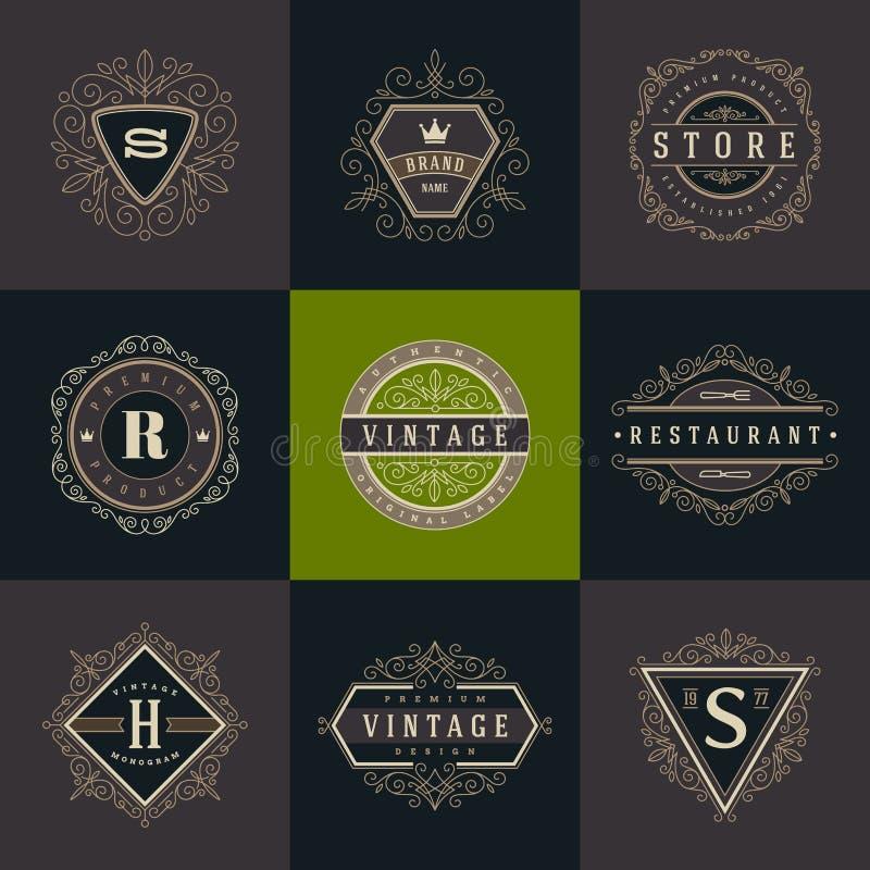 Ensemble de calibre de logo de monogramme illustration de vecteur