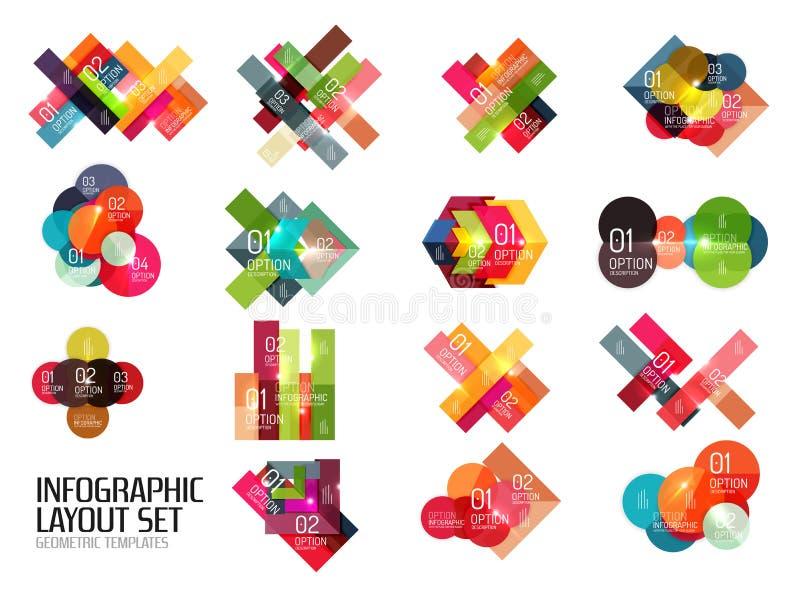 Ensemble de calibres d'infographics d'affaires illustration stock