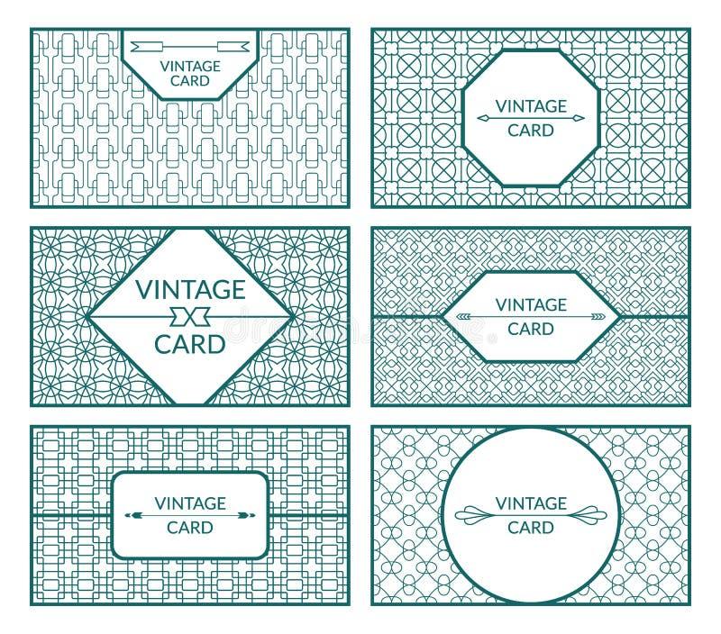 Ensemble de calibres d'ornamental de vintage illustration libre de droits