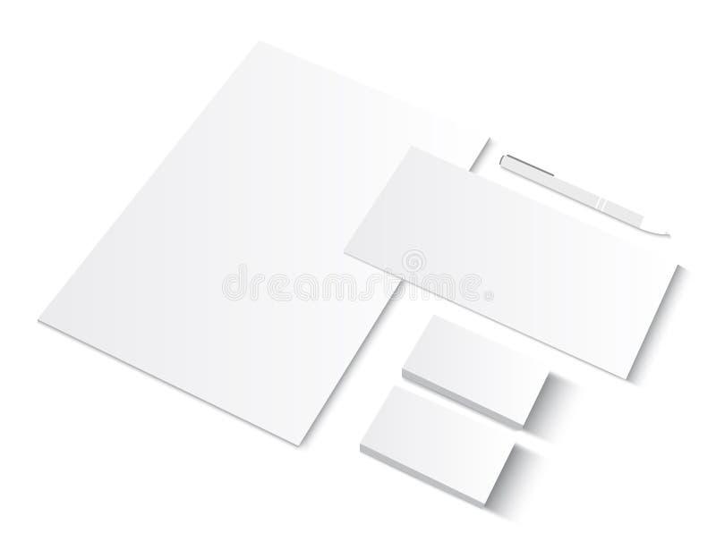 Ensemble de calibres de blanc de ci avec des cartes de visite professionnelle de visite illustration de vecteur