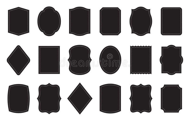 Ensemble de calibres de label de produit Différentes formes illustration de vecteur