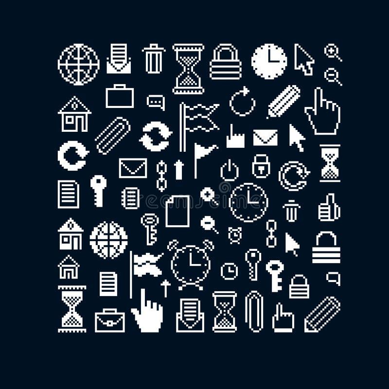 Ensemble de calibres héraldiques de luxe de vecteur Collection de vecteur sy illustration libre de droits