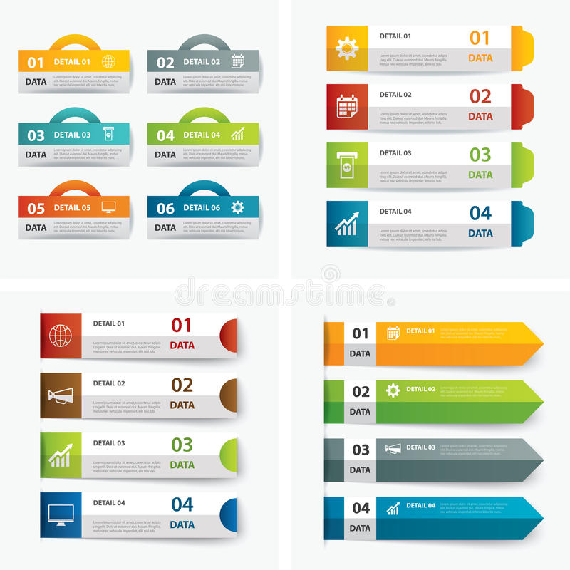Download Ensemble De Calibres Infographic Illustration de Vecteur - Illustration du affaires, brochure: 56480558