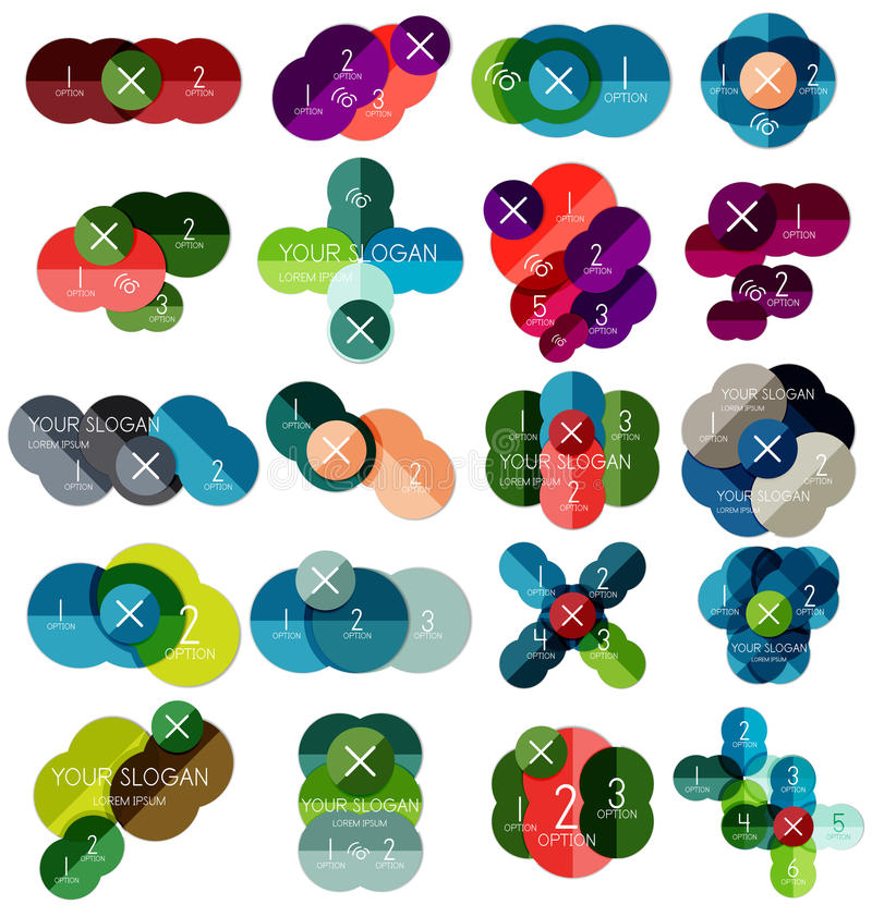 Ensemble de calibres infographic #2 de cercle illustration libre de droits