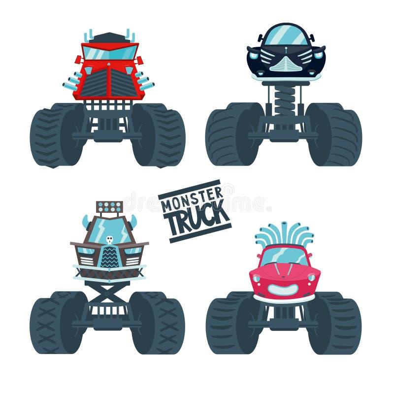 Ensemble de camion de monstre illustration libre de droits
