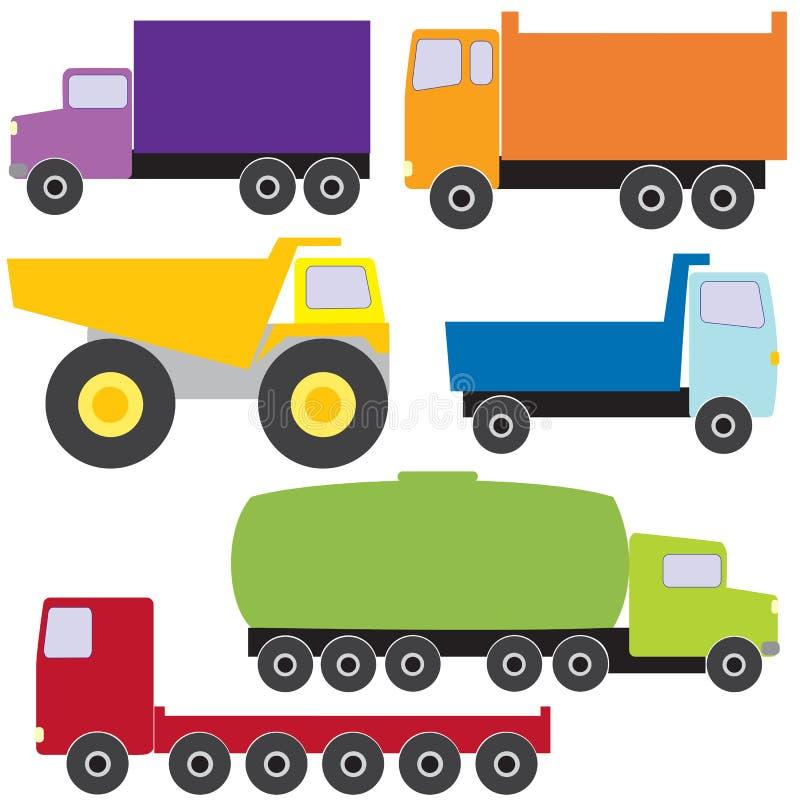 Ensemble de camions de vecteur illustration libre de droits