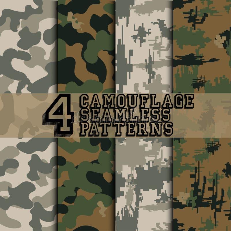 Ensemble de camouflages illustration de vecteur