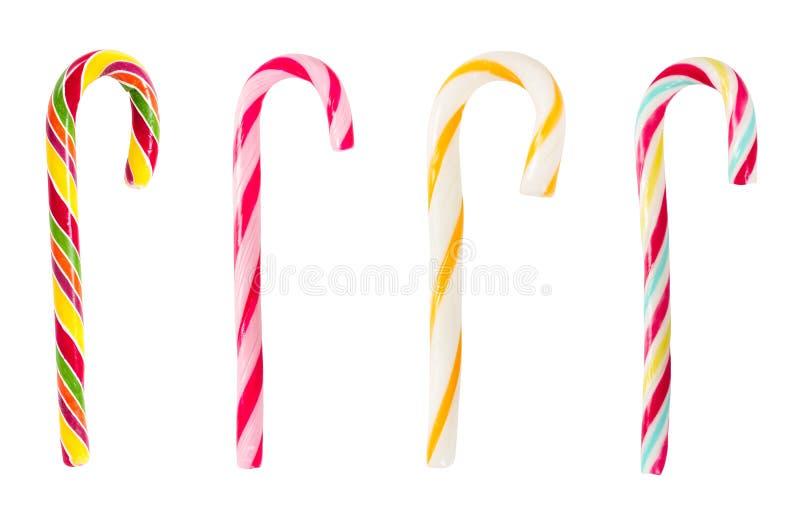 Ensemble de cannes de sucrerie rayées de Noël images libres de droits