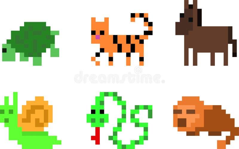 Ensemble de caractères de pixel illustration libre de droits