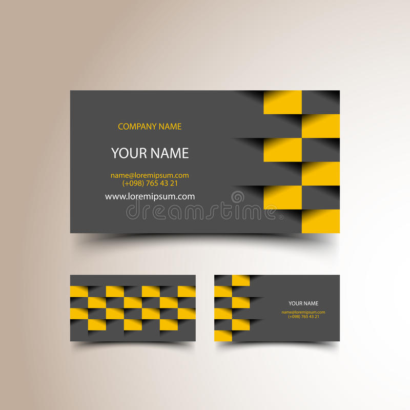 Ensemble de carte de visite professionnelle de visite de taxi photos stock