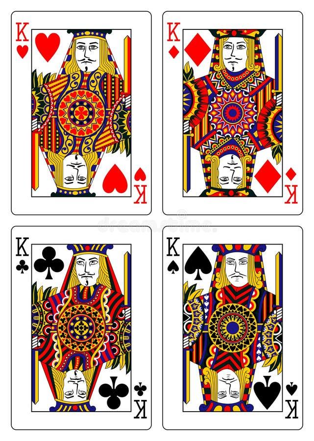 Ensemble de cartes de jeu de rois 62x90 millimètre illustration libre de droits