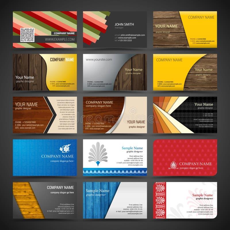 Ensemble de cartes de visite professionnelle de visite illustration stock