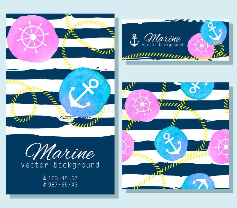 Ensemble de cartes nautiques illustration stock