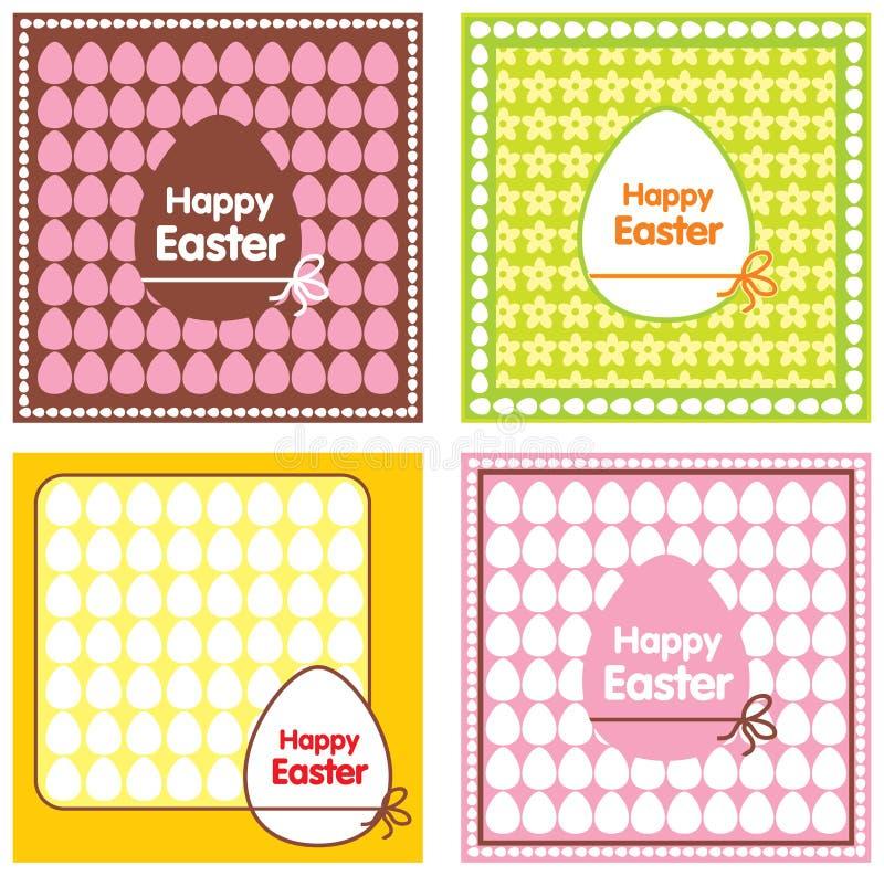 Ensemble de cartes de Pâques illustration libre de droits