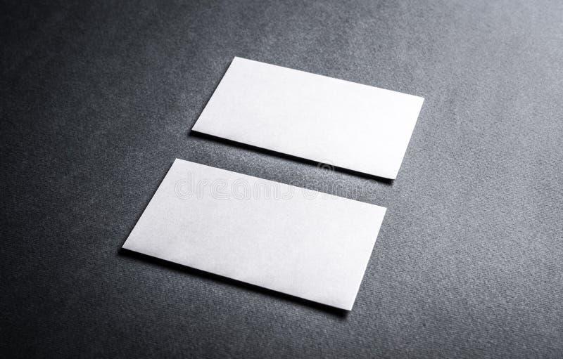 Ensemble de cartes de visite professionnelle de visite blanches image stock