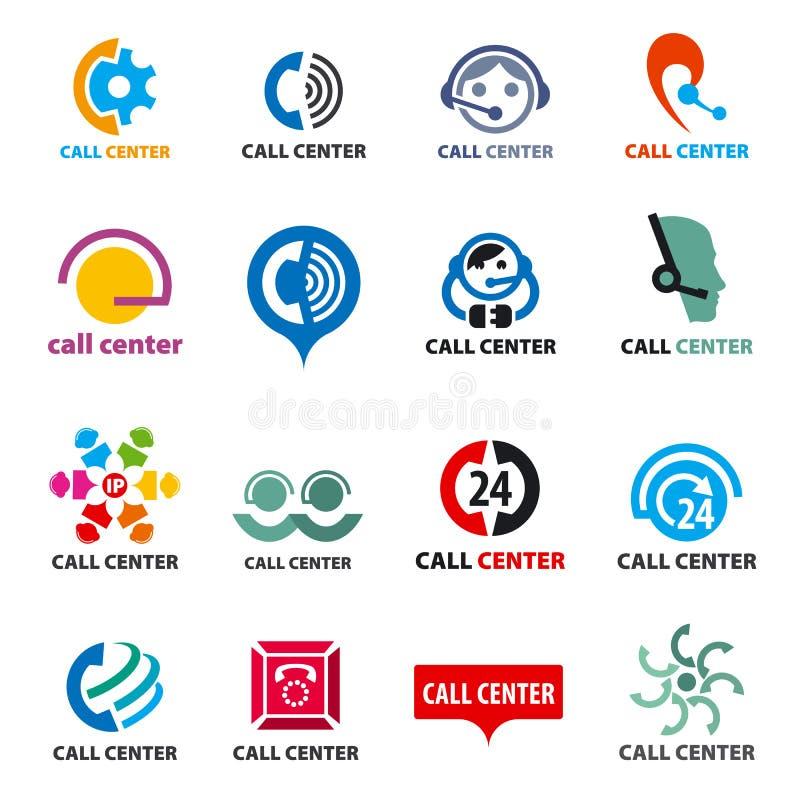Ensemble de centre d'appels de logos de vecteur illustration stock