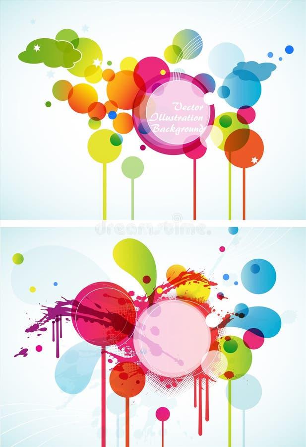 Ensemble de cercles colorés abstraits. illustration stock