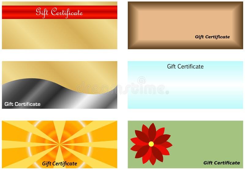 Ensemble de certificat-primes illustration de vecteur