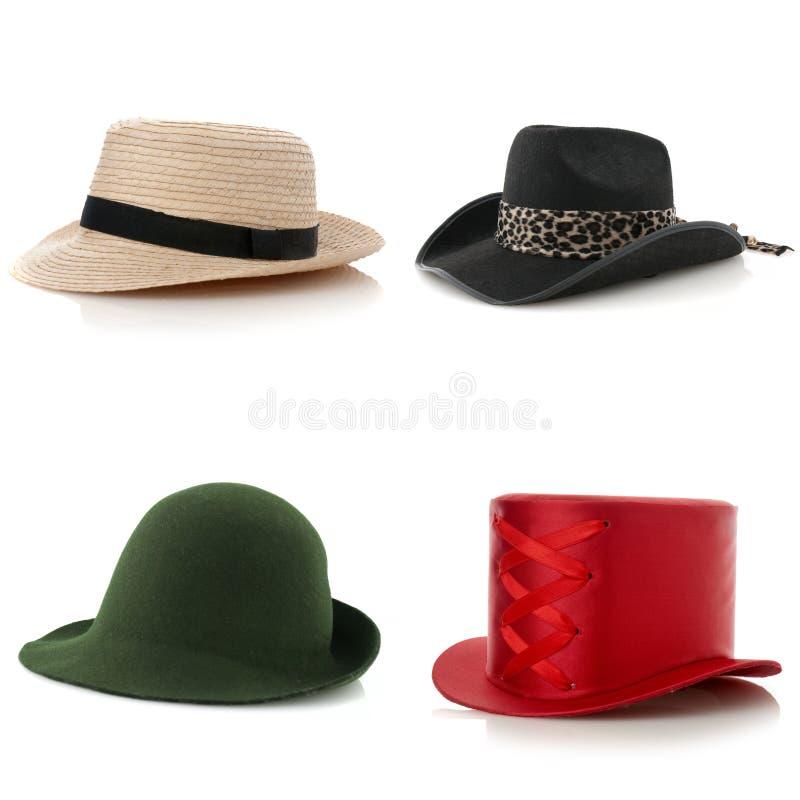 Ensemble de chapeaux photographie stock