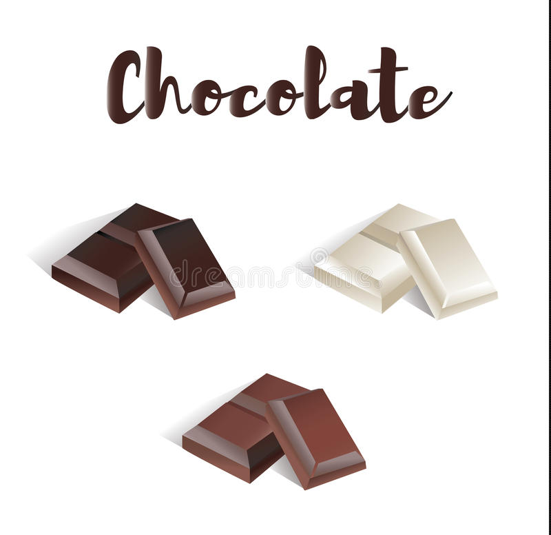 Ensemble de chocolat illustration stock