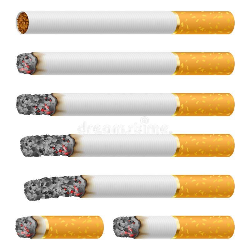 Ensemble de cigarettes illustration stock