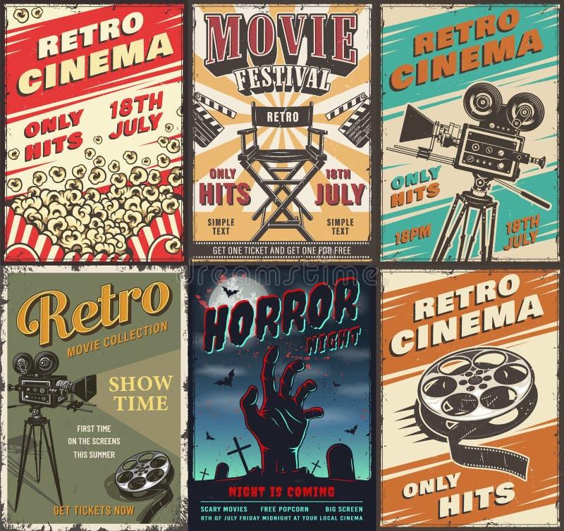 Ensemble de cinéma d'affiches illustration libre de droits